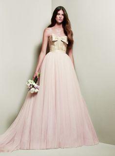 White by Vera Wang for David's Bridal wedding dress