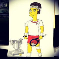 """Rafael Nad'ohal! #Simpson #RafaelNadal #Homerization #Tennis  #instadaily #art #instagramers #igers #followback #igaddict #instagood #iphonesia #igdaily…"""