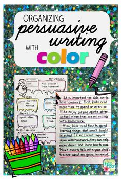 organizing persuasive writing with color