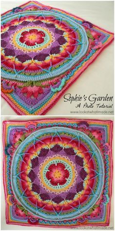 We are sharing here free crochet mandala patterns that differ from each other in style, geometric patterns and in color schemes!Garden Crochet Mandala