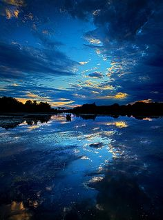 Sunset Cloud Reflections - Wisconsin