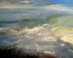 Nelly Van Nieuwenhuijzen - The sea touching the coast, acrylic