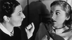 Judith Anderson and Joan Fontaine in Rebecca