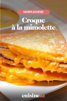 Une recette de croque-monsieur aux saveurs du nord avec de la mimolette. #recette#cuisine#croque#croquemonsieur #fromage #mimolette Saveur, Cheese, Tin Loaf