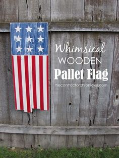 Whimsical Wooden Pallet Flag