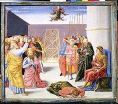 Saint Peter and Simon Magus Benozzo Gozzoli (Benozzo di Lese di Sandro)  (Italian, Florence ca. 1420–1497 Pistoia) Medium: Tempera on wood Accession Number: 15.106.1