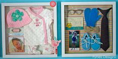 Put baby's first outfit from the hospital into a shadow box