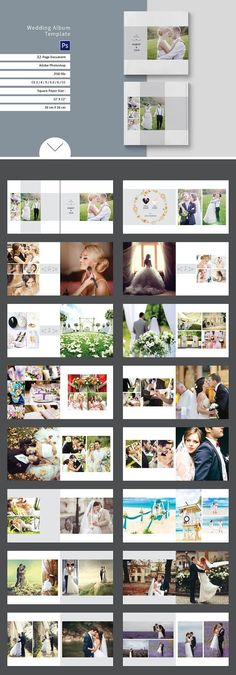 Wedding Album Templates by tujuhbenua on Creative Market - Elegant and Beautiful Magazine Template - Photograpy Wedding Album Cover, Wedding Album Layout, Wedding Album Design, Wedding Photo Books, Wedding Photo Albums, Wedding Book, Wedding Photos, Buch Design, Book Design Layout