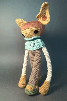 amigurumi / crochet / doll / gift / diy / craft / weird animal / baby blue heel yea