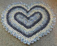 Crochet Heart Rag Rug Pattern By Kelli J. Bryan