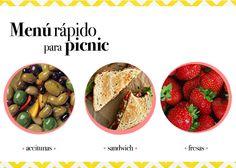 ¿Comemos juntas? Menú para picnic entre semana | Plan de chicas