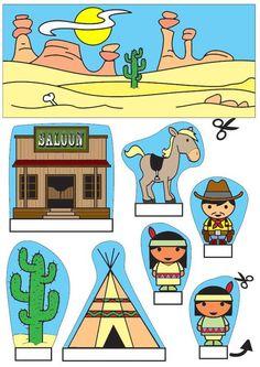 kijkdoos cowboys en indianen x knutselen 26781. Knutselen voor kinderen. De mooiste Knutselwerkjes voor op school en in het onderwijs.