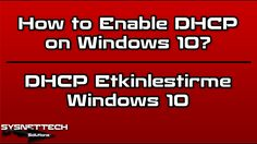 █ How to Enable DHCP on Windows 10? | SYSNETTECH Solutions ───────────────────────────────────────── █ Watch the Video ► https://www.youtube.com/watch?v=_vvT9NK8QPs ───────────────────────────────────────── #DHCP #Windows #Windows10 #Windows8 #Windows81 #Windows7 #WindowsXP #WindowsOperatingSystem #EnableDHCP #DHCPSetup #StaticIP #DHCPDNS #DNS #ChangeIpAddress #Modem #Router #IpAdresi