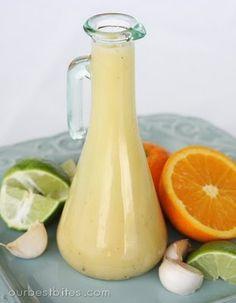 Honey-Citrus Vinaigrette. Didn't have orange. Added balsamic and Dijon mustard.