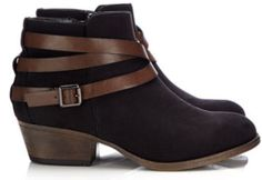 Wallis Black Ankle Strapped Booties ($78)
