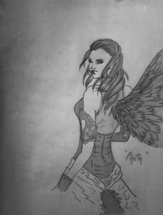 Angel - Sketching by Arth Tiwari in My Scrapbook at touchtalent