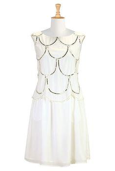 I <3 this Gatsby style crepe dress from eShakti
