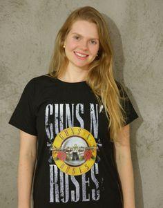 Guns N Roses - Algodão orgânico - Preto
