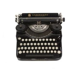 Pre-owned Underwood Standard Typewriter ($395) ❤ liked on Polyvore featuring home, home decor, fillers, black, accessories, decor, extra, decorative objects and black home decor