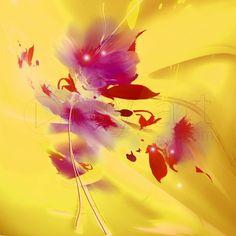 Tableau Numérique: Fleur aérienne violine une toile de limmagin impression sur dibond, verre acrylique et canvas.