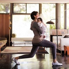 Walking Lunges - 8 New-Mom Workout Moves to Do with Baby - Fit Pregnancy