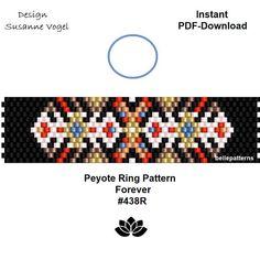 peyote ring patternPDF-Download 438R beaded ring pattern