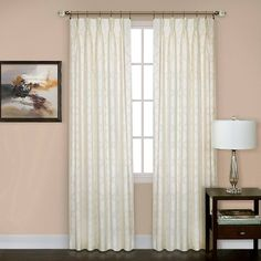 "Windsor Pinch Pleat Curtain Panel- Ivory (34"" x 63"") : Target"