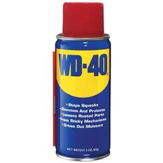 Nothing shut ups a squeaky wheel/hinge/knob like a squirt of WD-40, but it also has many other amazing household uses.