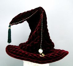 Our cotton velveteen wizard hats have spines to keep them upright while our quilted velvet wizard hats can stand up or flop over. They also have a stretch band with adjustable elastic, a small crystal jewel in front and a tassel. Stretch Bands, Large Crystals, Toad, Headgear, Crystal Ball, Costumes, Jewels, Fashion Outfits, Hats