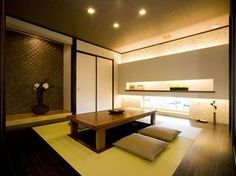 Decorating your Home Theater on a Budget Modern Japanese Architecture, Japanese Style House, Traditional Japanese House, Japanese Interior Design, Japanese Home Decor, Asian Interior, Japanese Modern, Japanese Design, Washitsu