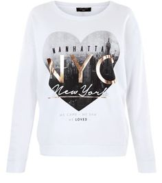 Tall. Wear this printed sweater with grey ripped knee skinny jeans and slip on plimsolls, for the perfect laid back day look.- 'NYC' heart printed front- Rounded neckline- Simple long sleeves- Casual fit that is true to size- Soft cotton fabric- Model wears UK 10/EU 38/US 6 Tall size guide:UK size 8: Bust - 84cm, Waist - 66cm, Hips - 90cmUK size 10: Bust - 88cm, Waist - 70cm, Hips - 94cmUK size 12: Bust - 93cm, Waist - 75cm, Hips - 99cm UK size 14: Bust - 98cm, Waist - 80cm, Hips - 104cm UK…