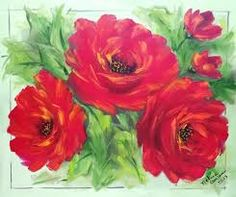Resultado de imagem para pintura em tela flores