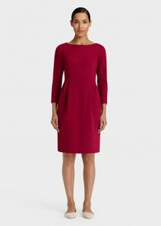 Italian Punto Milano Sheath Dress
