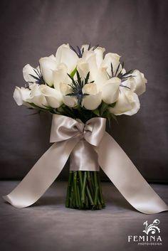 White Rose Bridal Bouquet | Photo by Femina Photo + Design