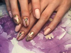 Moje 😍 by LawaNails #nails #cute #pink #flowers #goldennails
