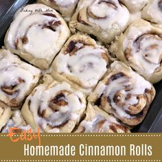Easy Homemade Cinnamon Rolls can be made the day before for easy prep. Great for breakfast or brunch, the brown sugar and cinnamon blend together for a delicious roll. Best Cinnamon Roll Recipe, Cinnamon Rolls, Fruit Dishes, Delicious Breakfast Recipes, Waffle Recipes, Frugal Meals, Sweet Bread, White Frosting, Homemade