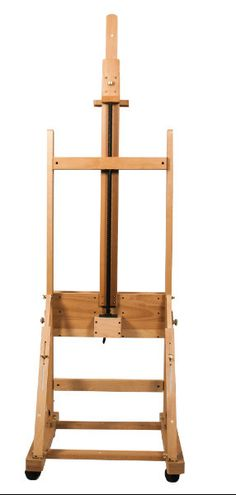 Mont Marte Studio Easel w/Crank & Storage Drawer - Beech - Art Shed Online Holes Book, Floor Easel, Table Easel, Art Shed, Art Easel, Wide Plank, Ladder Bookcase, Storage Drawers, Arts And Crafts