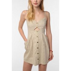 Urban Outfitters Cope linen front cut out dress Like new condition, as seen on Rooney Mara. Urban Outfitters Dresses Mini