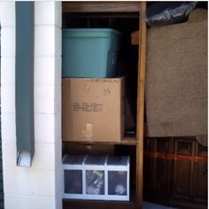 10x10. Sofa, Ottoman, Shelf, Chair, Lamps, Heater, Wall Pictures, Boxes, Misc. #StorageAuction in Fort Worth (87). Ends  May 17, 2016 7:03PM US/Eastern. Lien Sale.