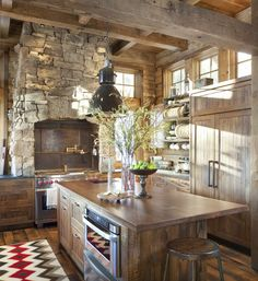 Sun-Warmed Modern Rustic Kitchen full of Natural Wood & Stone that's Spacious yet Cozy [2348 x 2560] http://ift.tt/2cTFT5P
