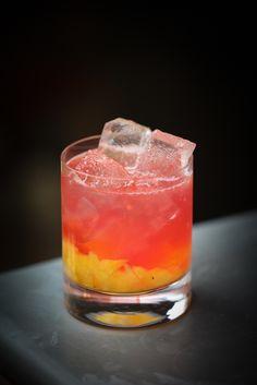 Pineapple Rock [4 Pineapple Cubes, 30ml Pinky Botanical Vodka, 20ml Lemon Juice, 20ml Home-made Grenadine, 10ml Sugar Syrup
