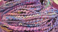 ROYAL PAIN hand spun sequined art yarn 107 yards by gargoylelover