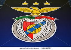 KYIV, UKRAINE - OCTOBER 19, 2016: S.L. Benfica Logo on racetrack before the game between Dynamo Kiev and S.L. Benfica at NSC Olimpiyskyi stadium