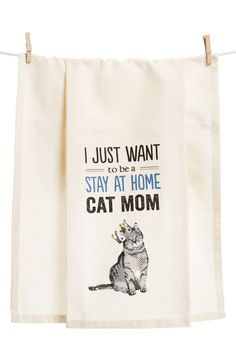 Primitives by Kathy Stay at Home Pet Mom Dish Towel Crazy Cat Lady, Crazy Cats, Here Kitty Kitty, Kitty Cats, Siamese Cat, Sphynx Cat, Cat Quotes, All About Cats, Stay At Home