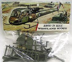 Airfix 1/72 Westland Scout - Bagged, 122 plastic model kit