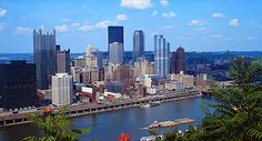 The skyline in Pittsburgh