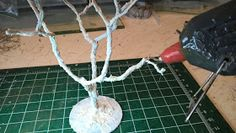 "This is a tutorial on ""How to make Trees"" I equate adding trees to a gaming table like adding candles on a birthday cake,it just doesn'. How To Make Trees, Crop Field, Table Games, Modeling, Candles, Birthday, Scale, Crafts, Dioramas"