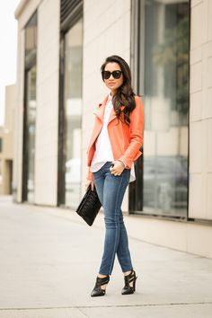 Hidden Lace :: Coral jacket