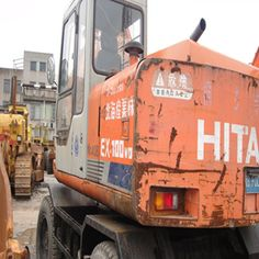 The used excavator Hitachi KATO is sold well in Jiangchun industry for its high working efficiency a. Used Excavators, Komatsu Excavator, Construction Machines, Kato