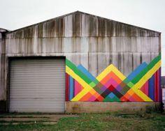VISUAL CLOUD. Maya Hayuk - Street Art